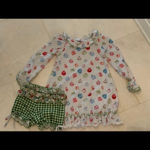 Sweet honey Christmas nightgown and bloomers